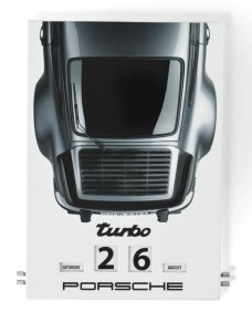 Calendrier émaillé Porsche Turbo