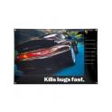 """Plaque émaillée """"Kills Bugs Fast"""" Porsche Classic"""